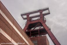 Zollverein Coal Mine Industrial Complex in Essen - Zollverein Coal Mine Industrial Complex in Essen: The winding tower of shaft 12 was built in the style of the Bauhaus, the...