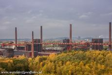 Zollverein Coal Mine Industrial Complex in Essen - Zollverein Coal Mine Industrial Complex in Essen: The tall red brick chimneys of the coking plant. Zollverein was the largest and most...