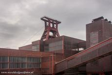 Zollverein Coal Mine Industrial Complex in Essen - Zollverein Coal Mine Industrial Complex in Essen: The buildings were designed in the style of the Bauhaus, red brick façades...