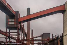 Zollverein Coal Mine Industrial Complex in Essen - Zollverein Coal Mine Industrial Complex in Essen: The buildings are connected to each other by a network of conveyor bridges, their...