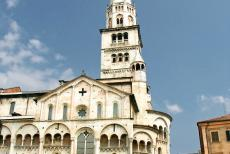 Cathedral,Torre Civica and Piazza Grande, Modena - Modena Cathedral and the Torre della Ghirlandina, situated in the Piazza Grande, the central square in the City of Modena, the location...