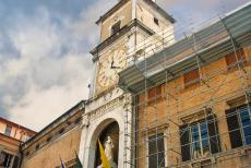 Cathedral,Torre Civica and Piazza Grande, Modena - The 15th century Torre Civica, the clock tower of the Town Hall of Modena, is situated on the main square of Modena, the Piazza Grande. The...