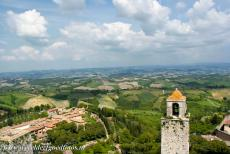 Historic Centre of San Gimignano - San Gimignano is a small walled medieval hill town in Italy, surrounded by the breathtaking landscape of Tuscany. San Gimignano became an...