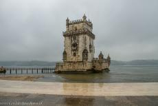 Tower of Belém - The Tower of Belém on a rainy day. The Tower of Belém is one of the architectural jewels of Portugal, the tower was...