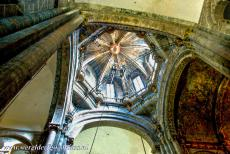 Santiago de Compostela (Old Town) - The dome of the Cathedral of Santiago de Compostela and the Eye of Providence. The dome contains the pulley mechanism to swing the...