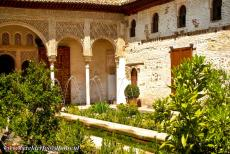 Alhambra, Generalife and Albayzín - The Generalife with the patio de la Acequia, the Courtyard of the Water Channel. The Generalife is situated near the Alhambra, it was...