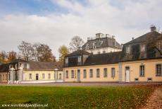 Falkenlust Castle in Brühl - Castles of Augustusburg and Falkenlust at Brühl: Falkenlus Castle. Next to the Baroque French gardens of Augustusburg Castle, the forested...