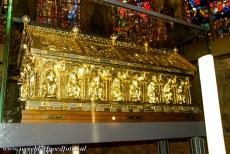 Aachen Cathedral - Aachen Cathedral: The golden Shrine of Charlemagne contains his remains. The shrine was made in Aachen, ordered by the Roman...