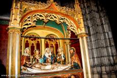 Cologne Cathedral - Cologne Cathedral: Station of the Cross 14, Jesus is laid in the tomb. The cathedral is situated along the Route of Santiago de...