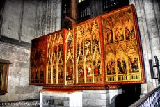 Cologne Cathedral - Cologne Cathedral: The 14th century Clara Altar in one of the chapels of the cathedral. The Clare Altar is made up of a large number of...