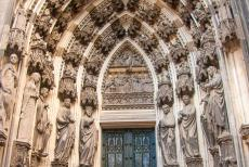Cologne Cathedral - Cologne Cathedral: The Porch of the Three Kings, also known as the Magi Portal. The tympanum depicts the Appearance of the son of God to the...