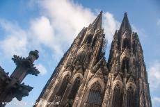 Cologne Cathedral - Cologne Cathedral had no towers for more than 350 years, it was not until 1880 that the towers were erected. They were built in the Gothic...