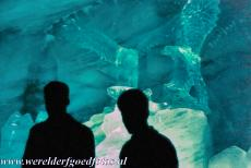 Swiss Alps Jungfrau-Aletsch - Swiss Alps Jungfrau-Aletsch: Several ice sculptures inside the Aletsch Glacier Ice Palace. The Ice Palace is situated inside the Aletsch Glacier....