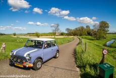 Defence Line of Amsterdam - Defence Line of Amsterdam: A Classic Mini in front of Fortress Spijkerboor. Fortress Spijkerboor is situated in the Beemster Polder....