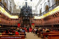 Historic Centre of Córdoba - Historic Centre of Córdoba: The chancel and choir of the cathedral inside the Great Mosque. During the Spanish Reconquista,...
