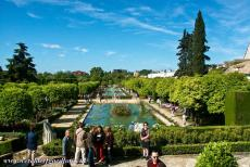 Historic Centre of Córdoba - Historic Centre of Córdoba: The water gardens of the Alcazar de los Reyes Cristianos were laid out on three terraces. The palace and...