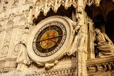 Chartres Cathedral - Chartres Cathedral: The choir screen includes an astrological clock dating from the 16th century. The clock told not only the...