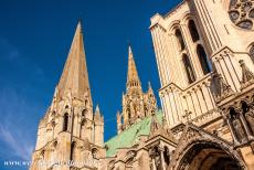 Chartres Cathedral - Chartres Cathedral:  The two spires of the Chartres Cathedral are different, both in height and in appearance. The south...