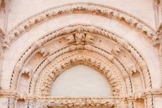 Cathedral of St James in Šibenik - The Cathedral of St. James in Šibenik: A detail of the front portal. The form and decorations of the cathedral illustrate the...