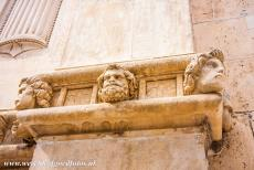 Cathedral of St James in Šibenik - A detail of the frieze of the Cathedral of St. James in Šibenik, the frieze of 72 sculpted heads is one of the most notable...