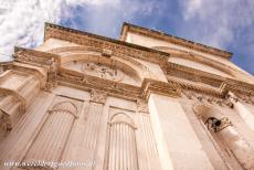 Cathedral of St James in Šibenik - The Cathedral of St. James in Šibenik: The frieze of 72 sculpted heads on the exterior façade at the rear of the building. The...