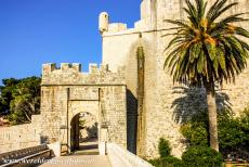 Old City of Dubrovnik - Old City of Dubrovnik: The Ploce Gate is the second major entrance to the city. The Ploce Gate was built on the eastern side of the city in...