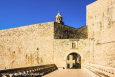 Old City of Dubrovnik - Old City of Dubrovnik: The Ploce Gate consists of two separate gates, an inner gate (photo) and an outer gate, the gates were connected by a stone...