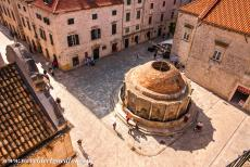Old City of Dubrovnik - Old City of Dubrovnik: The Big Fountain of Onofrio viewed from the city walls of Dubrovnik. The Big Fountain of Onofrio was built between...