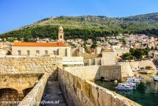 Old City of Dubrovnik - Old City of Dubrovnik: The defensive city walls, the Dominican Monastery and Revelin Fortress. The Dominican Monastery lies behind the city walls...