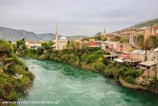 Old City of Mostar - Old Bridge Area of the Old City of Mostar: The Koski Mehmed Pasha mosque was built around 1617, it stands on the banks of the...