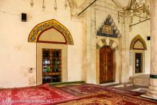 Old City of Mostar - Old Bridge Area of the Old City of Mostar: The entrance to the Koski Mehmed Pasha mosque. The most important element in the mosque is...