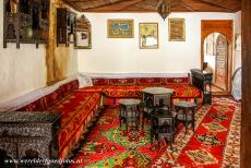 Old City of Mostar - Old Bridge Area of the Old City of Mostar: A room in the Biščevića Kuća, one of the historic Turkish houses in Mostar, it is...