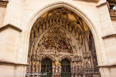 Old City of Bern - Old City of Bern: The Bern Minster, the Last Judgment Portal with Archangel Michael with a sword, the saved are on the left side and the damned on...