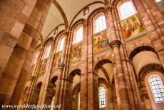 Speyer Cathedral - Speyer Cathedral: The flat wooden ceilig was replaced by a stone vaulting in the period 1082-1106. The nave was decorated...