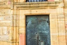 Speyer Cathedral - Speyer Cathedral: The door of the St. Afra Chapel. The chapel is situated on the northern side of the cathedtal. The chapel was named...