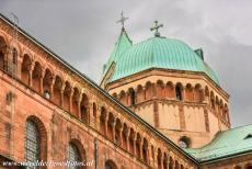 Speyer Cathedral - Speyer Cathedral has the earliest example in Germany of a colonnaded dwarf gallery that encircles the entire building. The domes, the...