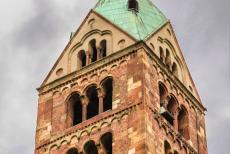 Speyer Cathedral - Speyer Cathedral: One of the towers of the cathedral. The towers are 'deaf towers', so called because they were never equipped with...