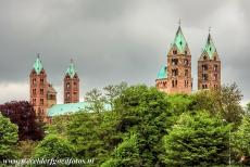 Speyer Cathedral - Speyer Cathedral is a basilica with four towers and two large domes. The floor plan of the Romanesque cathedral has the form of a Latin...
