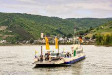 Upper Middle Rhine Valley - Upper Middle Rhine Valley: A ferry crossing the Rhine at Lorch. The Upper Middle Rhine Valley, also known as the Rhine Gorge, is...