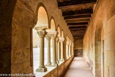 Wartburg Castle - Wartburg Castle: One of the colonnades in the Palas. The Palas is the 12th century palace. The Romanesque Palas is the oldest part...