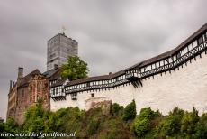 Wartburg Castle - The Bergfried is the donjon of the Wartburg, the tower was completed in 1859. During the nazi regime, the cross on the Bergfried was replaced by a...