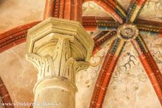 Maulbronn Monastery Complex - Maulbronn Monastery Complex: The vaults of the Chapter Hall are supported by columns, the capitals of the columns have notable decorations, the...