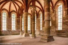 Maulbronn Monastery Complex - Maulbronn Monastery Complex: The Men's Refectory is the dining room of the monks, it was completed around 1230. The two-naved...