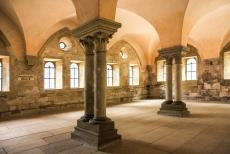 Maulbronn Monastery Complex - Maulbronn Monastery Complex: The dormitory is the room where the monks slept. After the Protestant Reformation started in 1517, the...