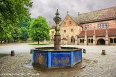 Maulbronn Monastery Complex - Maulbronn Monastery Complex: The courtyard and the water well in front of the Paradise, the inposing colonnaded entrance hall of...