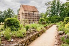 Abbey of Lorsch - Abbey and Altenmünster of Lorsch: The remaining part of the abbey church is surrounded by a medicinal herb garden. The remaining...