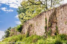 Abbey of Lorsch - Abbey and Altenmünster of Lorsch: The remains of the ancient wall surrounding the Abbey of Lorsch, the original wall was about three...