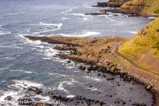 Giant's Causeway and Causeway Coast - Giant's Causeway and Causeway Coast: The Giant's Causeway seen from the Red Trail, the Cliff Path Walk, on the right the Grand...
