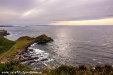 Giant's Causeway and Causeway Coast - Giant's Causeway and Causeway Coast: Sunset at Port Granny, Port Granny on the Causeway Coast seen from the clifftop walk. The Red Trail...