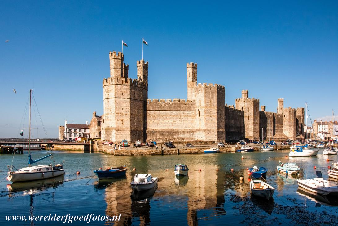 Castles of King Edward in Gwynedd - Caernarfon Castle is the most famous castle in Wales. The castle and town of Caernarfon were founded by the English King Edward I. In the Middle...